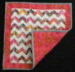 PINK Chevron Mini Quilt / Doll Quilt