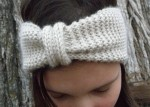 NATURAL Hand Knit Headband Ear Muff Cowl Neck Warmer