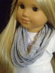 GREY Infinity Scarf for American Girl Dolls