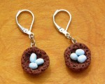 Clay ROBIN'S EGG NEST Earrings