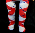 ARGYLE in Red, White & Blue - Tights for American Girl Dolls